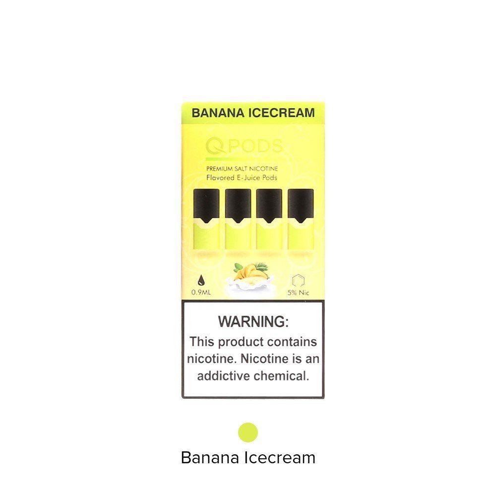 QPODS Banana Ice Cream